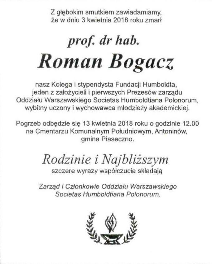 prof. dr hab. Roman Bogacz