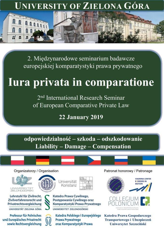 Plakat Iura privata in comparatione final 1